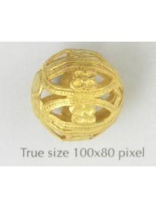 Filigree Bead 18mm Raw Brass