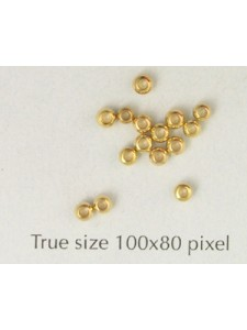 Brass Bead 2.5mm Large Hole G/P