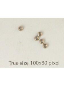 Brass Bead 2.5mm Large Hole Nickel Pl.