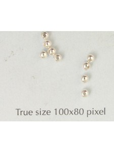 Brass Bead 2.5mm Large Hole Silver Pl NF