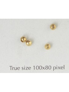 Brass Bead 3mm Large Hole Gold Plated