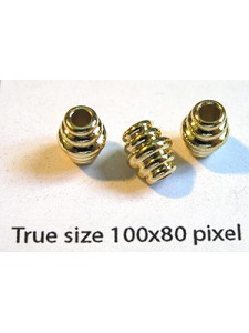 Big Hole Bead 7x6mm H:2.5mm Gold plated