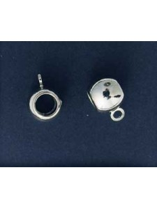 Hang Bead Big Hole Nickel plated