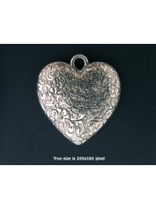 Acrylic Pendant Heart 32x30x6mm  AntiSil