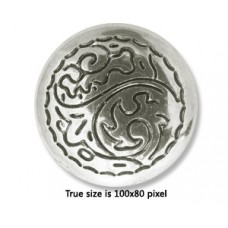 CCB Bead Flat Round 25x8mm Antique Silve