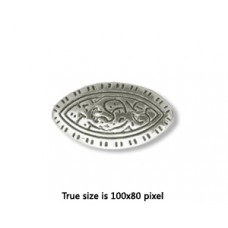 CCB Bead Oval 18x10mm Antique Silver