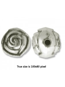 CCB Bead 15mm Antique Silver