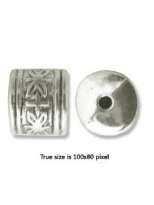 CCB Bead Column 13x12mm Antique Silver