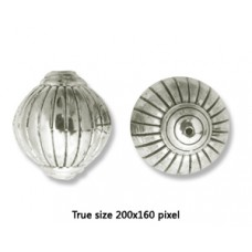 CCB Bead Round 24x27mm ANtique Silver