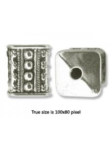 CCB Bead  Cube 16x13mm Antique Silver