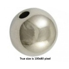 CCB Bead Round 25mm Antique Silver