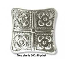 CCB Bead Square 32x10mm Antique Silver