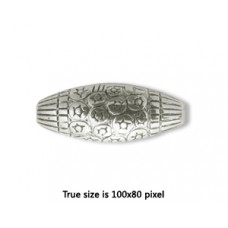 CCB Bead Rice 23x9mm Antique Silver