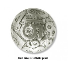 CCB Bead Flat Round 22x10mm Antique Silv