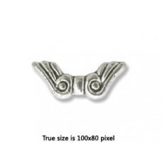 CCB Bead Wing 11x8mm Antique Silver