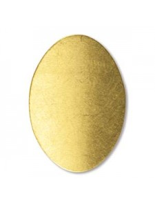 Brass Oval Blank 0.75x1.1 inches 24gauge