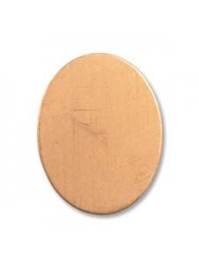 Copper Blank Oval 0.8x0.6 inches 24 GA