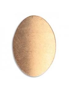Copper Oval Blank 0.75x1.1 in 24GA