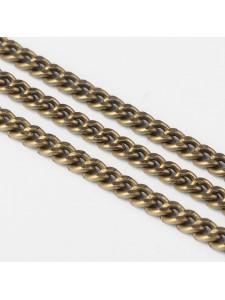 Bevel Curb Chain 4.5x3mm Antique Brass