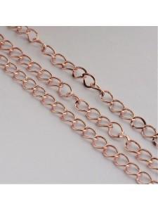 Chain Curb chain 6x3mm Rose Gold