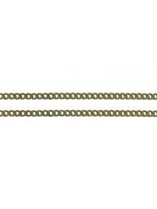 Chain cable 3.7x2.7mm Anti Brass per mtr