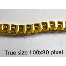 Box Chain (Iron) 4mm Gold Plated NF - mt