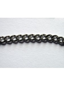 Chain Curb 3.5x5mm links Stain.Steel - M
