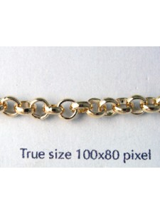 Belcher Chain 4.5mm Gold plated -MTR