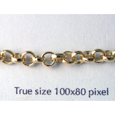 Belcher Chain 4.5mm Gold plated -MTR