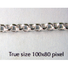 Belcher Chain 4.5mm Silver plated - mtr