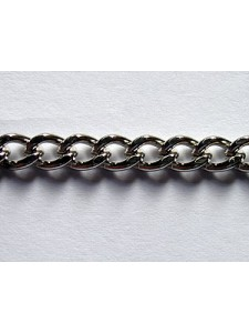 Beveled Curb Chain Nickel Pl. -per MTR