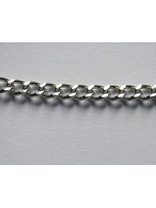 Chain Steel Curb Nickel plated per mtr
