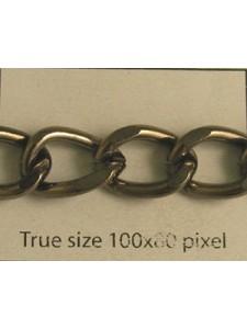 Beveled Curb Chain Black Nickel Pl - MTR
