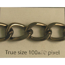 Beveled Curb Chain Black Nickel Pl - MTR