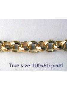 Belcher Chain 6.5mm Gold Plated-mtr