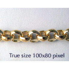 Belcher Chain 6.5mm Gold Plated-mtr