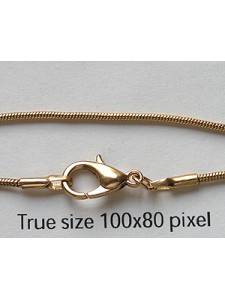 Snake Chain 16 in Gold plated -EACH