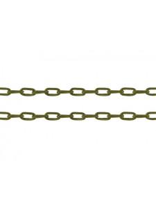 Cabel Chain 4x2x1mm Anti Brass - mtr