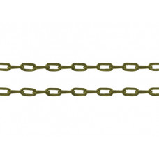 Cabel Chain 4x2x1mm Anti Brass - mtr