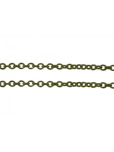 Cable Chain 2x1.5x0.5mm Anti Brass - mtr