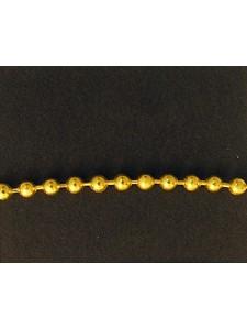 Ball Chain 2.4mm Gold colour NF- per MTR