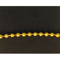 Ball Chain 2.4mm Gold colour NF- per MTR