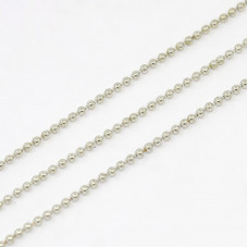 Ball Chain 1.5mm Paltinum colour NF -mtr