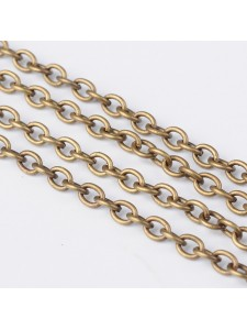 Cable Chain 3x4mm Antique Brass