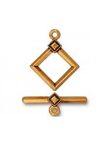 CLASP SET  DECO DIAMOND  Antique Gold