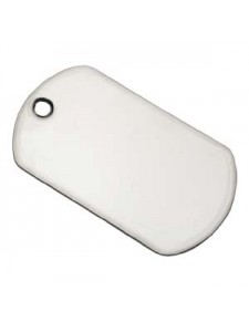 Dog Tag 2x1-1/8in Nickel colour (edged)