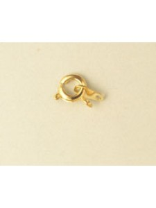 Bolt Ring/Catch Set 6mm Gold Plated