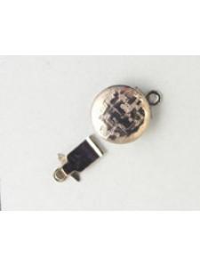 Clasp Round Textured Nickel plated