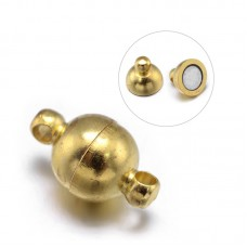 Clasp Magnetic 6mm  Round Gold Plated