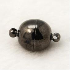 Magnetic Clasp Round 10mm Black Nickel